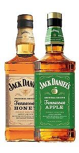 Dupla de Jack Daniel's: Honey e Apple - 1L