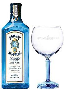 Gin Bombay Sapphire + 1 Taça de Vidro Exclusiva - 750ml