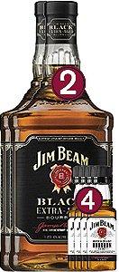 Jim Beam Black - 1L + 4 Jim Beam 50ml