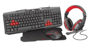 Kit Gamer 4x1 Teclado + Mouse + MousePad + Headset - Ziva 22428 - Trust