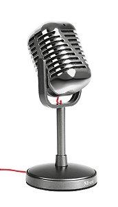 Microfone Elvii com Estilo Vintage de Alto Desempenho com Base - Trust
