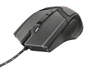 Mouse Gamer GXT 101 GAV 4800dpi 6 botões Iluminação Multicolor - Trust