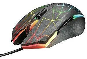 Mouse Gamer RGB GXT 170 Heron, Sensor Pixart PMW3320, 7.000dpi, Memória interna, 5 botões programáveis – Trust
