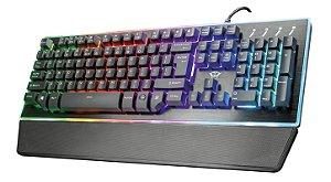 Teclado Gamer Semi-Mecânico LED GXT 860 Thura, 9 Modos de Cor Ajustáveis e Anti-Ghosting - Trust