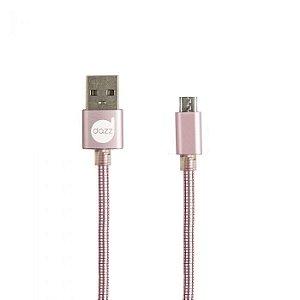 CABO MICRO USB 2.0 ROSE - METAL ENTRELAÇADO