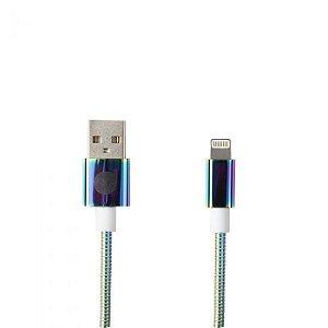 CABO USB LIGHTNING COLORS - METAL ENTRELAÇADO