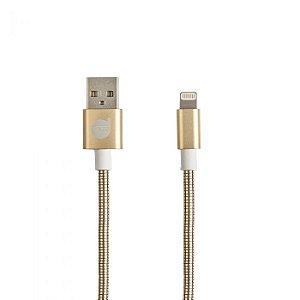 CABO USB LIGHTNING GOLD - METAL ENTRELAÇADO