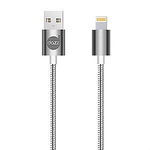 CABO USB LIGHTNING SILVER - METAL ENTRELAÇADO