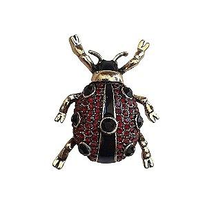 Broche Ladybug Ouro