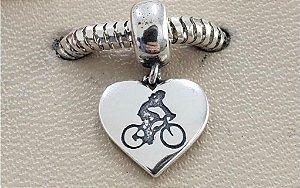 Berloque Ciclista Coração