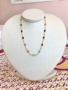 Choker Pedras Retangular Colors