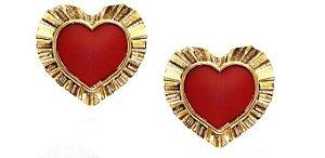 Brinco Ouro Vintage Love
