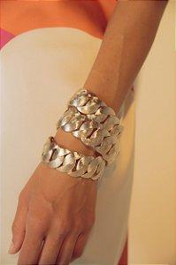 Bracelete Elos Metal Amanhecer Único