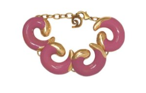 Pulseira Brisa Ouro Vintage Rosa