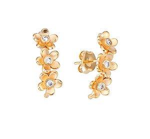 Brinco Ear Hook Mini Flores