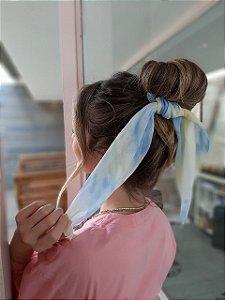 Scrunchie Crepe Tie Dye Longo