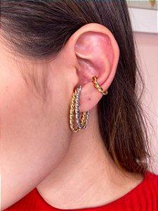 Brinco Ear Hook De Encaixe Torcido Maior