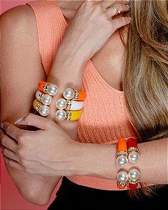 Bracelete Com Perola