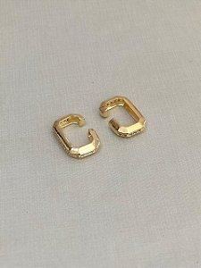 Brinco Ear Hook De Encaixe Dourado Menor