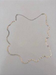 Body Chain Escamas Ródio Branco