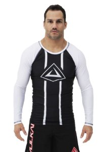 RASH GUARD VULKAN CHALLENGE ML BRANCA