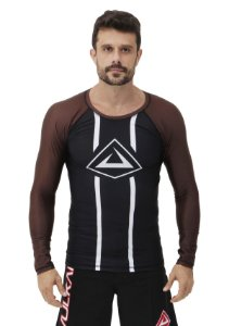 RASH GUARD VULKAN CHALLENGE ML MARROM