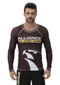 RASH GUARD ALLIANCE VULKAN MARROM