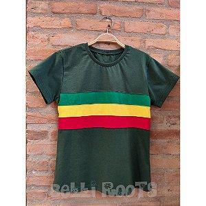 Camiseta Baby Look Faixa Reggae - Belli Roots