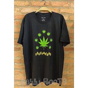 Camiseta Vegetariano Preta - Belli Roots
