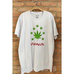 Camiseta Vegetariano Branca - Belli Roots