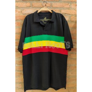 Camiseta Polo Faixa Preta - Reggae
