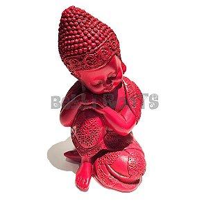 Escultura Buda Rosa