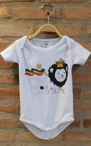 Body Baby Lion - Branco