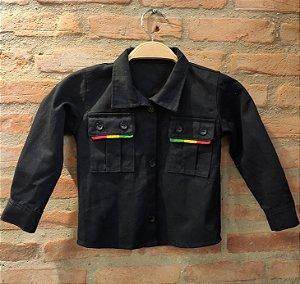 Camisa Sarja Preta Reggae - Kids Belli Roots