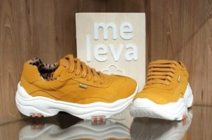 Tênis chunky sneakers Mostarda - Farm