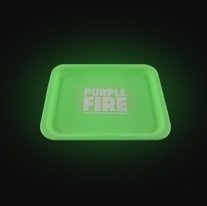 Bandeja Purple Fire de Silicone - Brilha no escuro verde