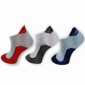 Kit Meias Rikam Invisível Poliamida Bicolor 2 Proteções - 39 a 43 - com 3 pares