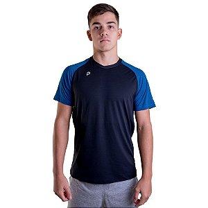 Camiseta Punnto Masculina Manga Raglan Bicolor Poliamida