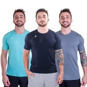 Kit 3 Camisetas Punnto Masculina Poliamida Color