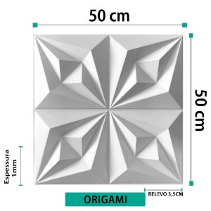 Placa decorativas 3D Poliestireno Origami
