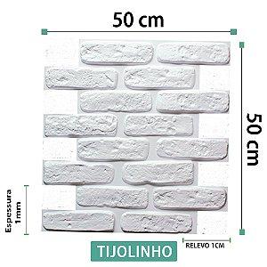 Placa decorativas 3D Poliestireno Tijolinho Encaixe
