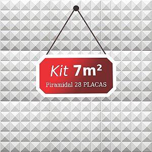 Kit 7m²  Revestimento 3D Piramidal