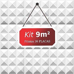 Kit 9m² Placas de Revestimento 3D Prisma