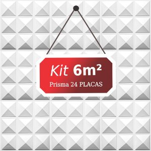 Kit 6m² Placas de Revestimento 3D Prisma