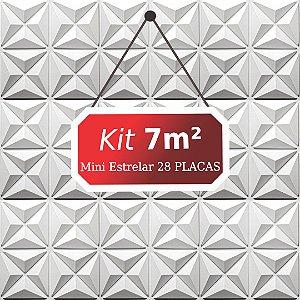 Kit 7m²  Revestimento 3D Mini estrelar