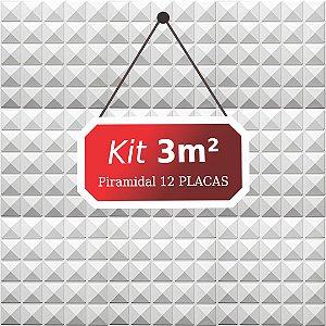 Kit 3m²  Revestimento 3D Piramidal