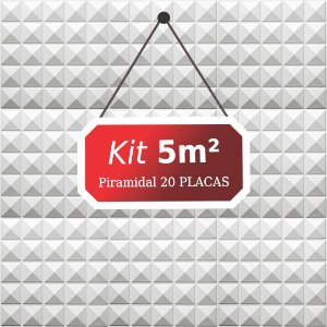 Kit 5m²  Revestimento 3D Piramidal