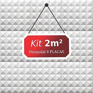 Kit 2m²  Revestimento 3D Piramidal