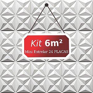 Kit 6m²  Revestimento 3D Mini estrelar