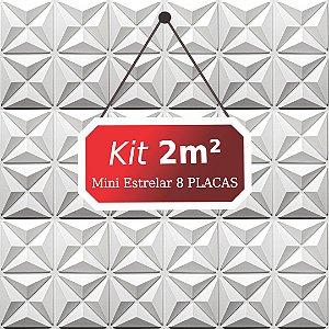 Kit 2m²  Revestimento 3D Mini estrelar